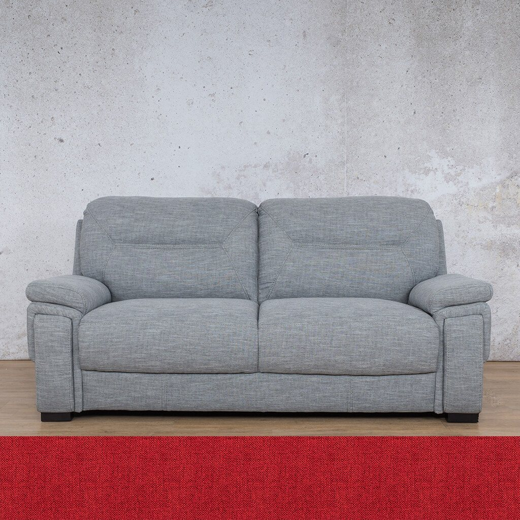San Lorenze Fabric Couch | 3 seater couch | Delicious Cherry | Couches for Sale | Leather Gallery Couches