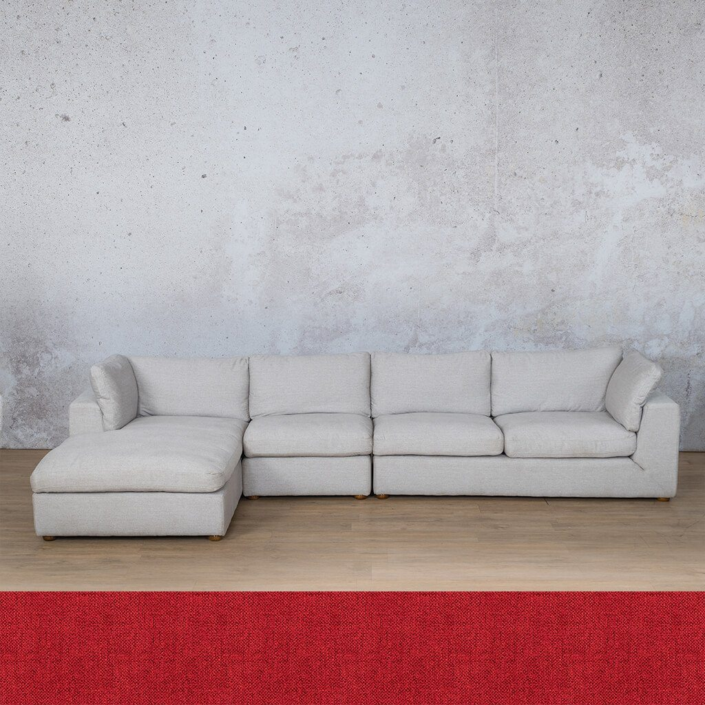 Skye Fabric Corner Couch | Chaise Modular Sectional-LHF | Delicious Cherry | Couches For Sale | Leather Gallery Couches