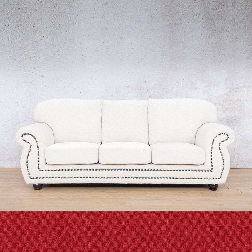 Isilo Fabric sofa suite | 3 Seater Couch  | Couches for Sale| Delicious Cherry | Leather Gallery Couches