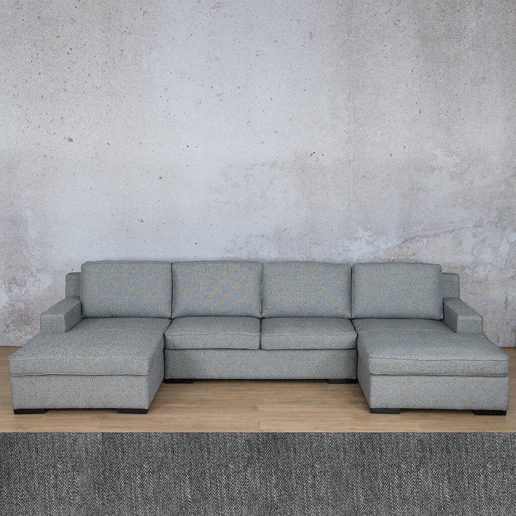 Arizona Fabric Sofa U-Chaise Sectional