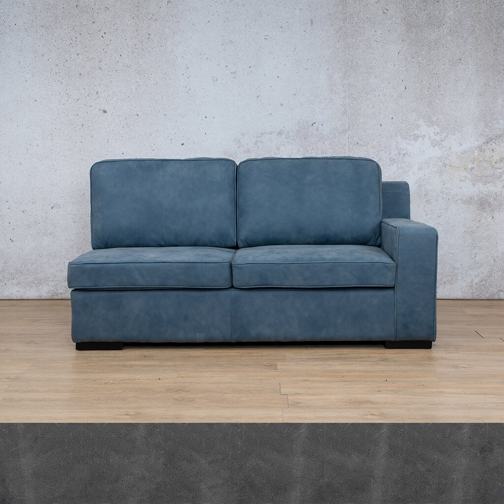 Arizona Leather Couch | 2 Seater Left Arm | Diesel Denim | Leather Gallery