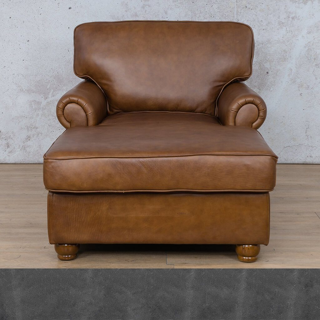 Salisbury Leather 2 Arm Chaise
