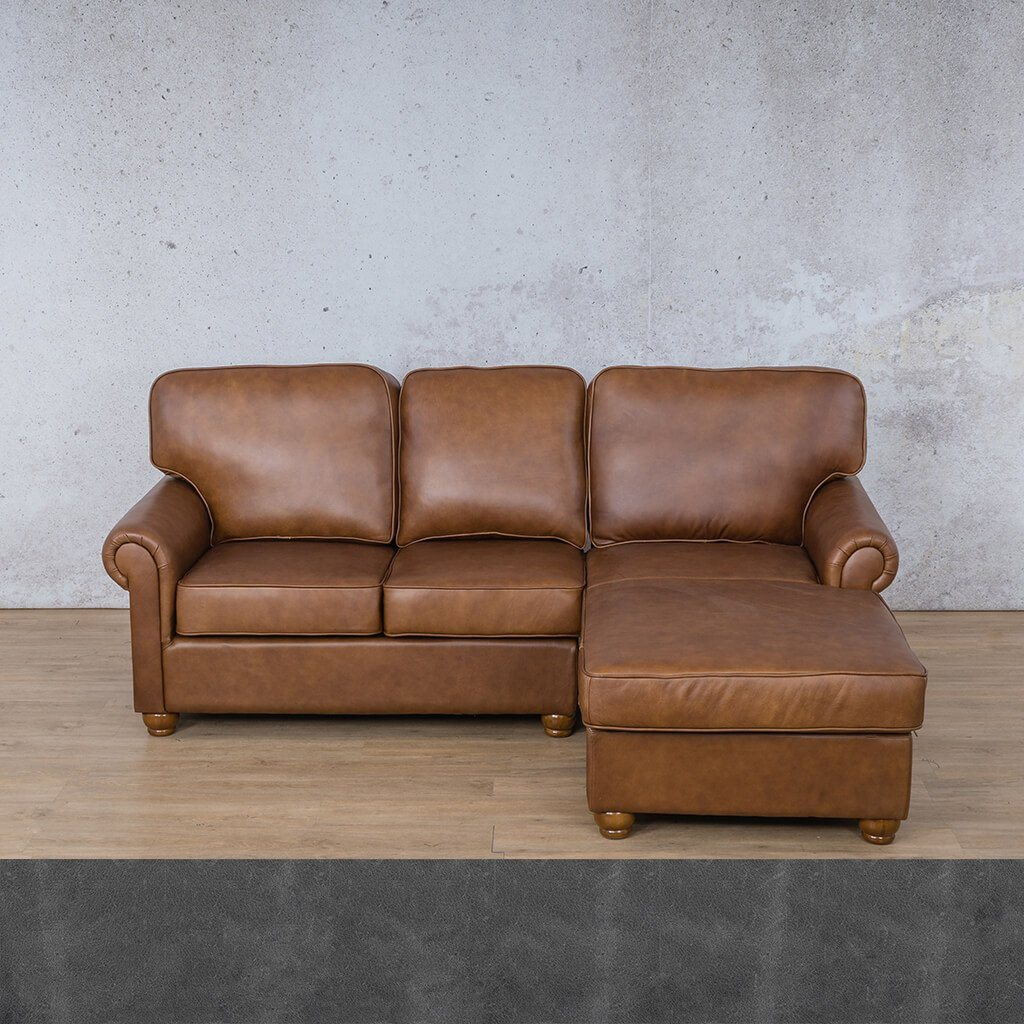 Salisbury Leather Sofa Chaise Sectional - RHF