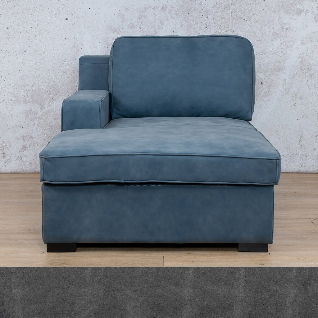 Arizona Leather Couch | Chaise Right Arm | Diesel Denim | Leather Gallery