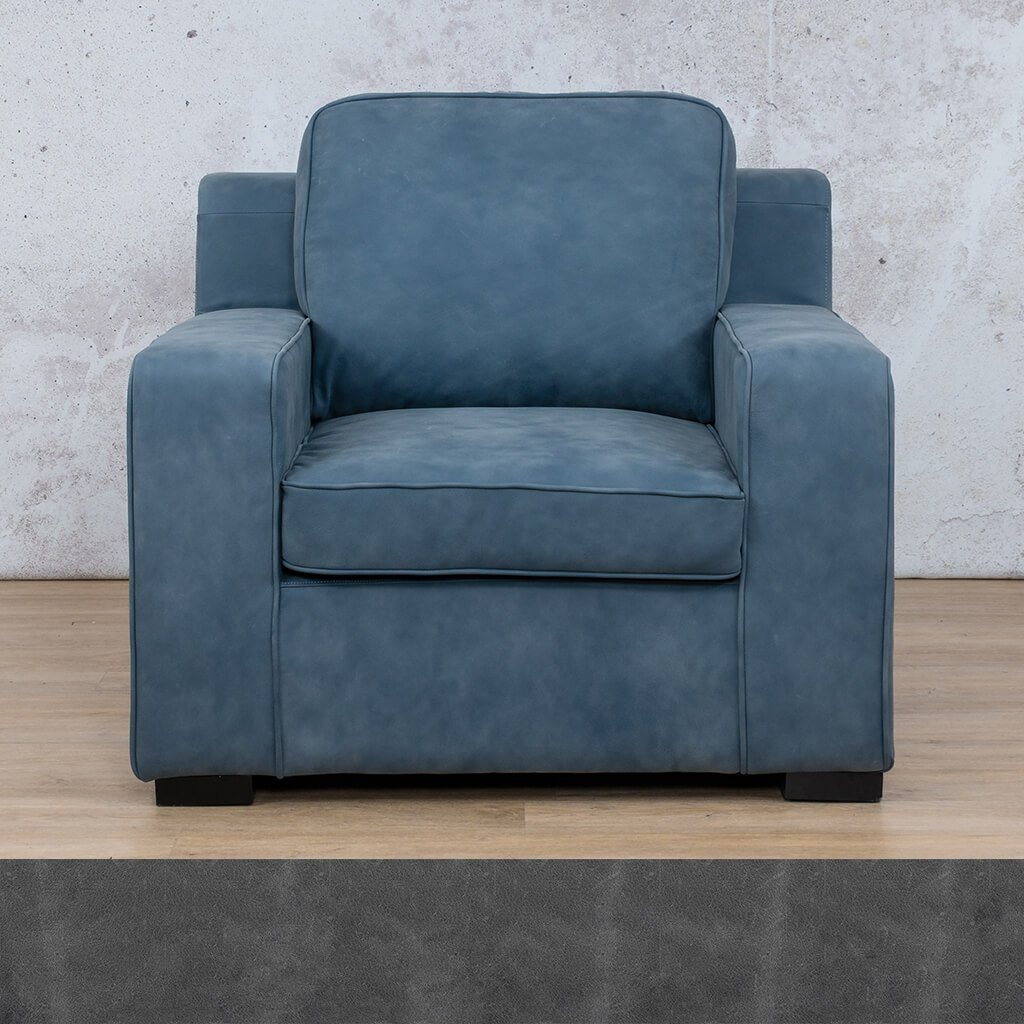 Arizona Leather | 1 Seater | Diesel Denim | Leather Gallery
