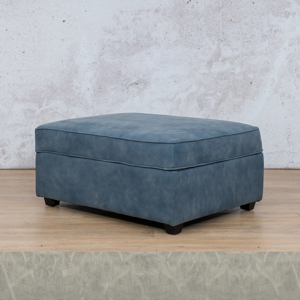 Arizona Leather Couch | Ottoman | Diesel Grey | Leather Gallery