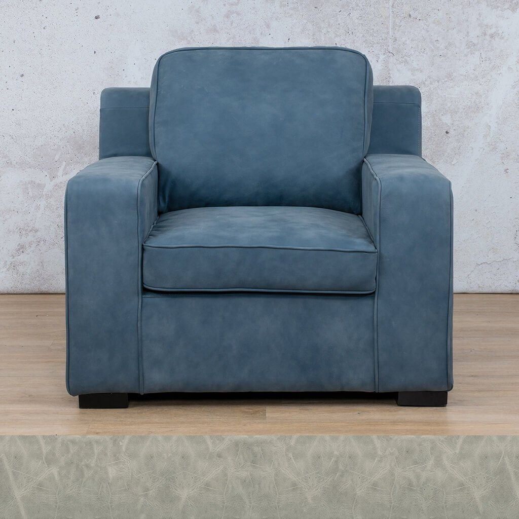 Arizona Leather | 1 Seater | Diesel Grey | Leather Gallery