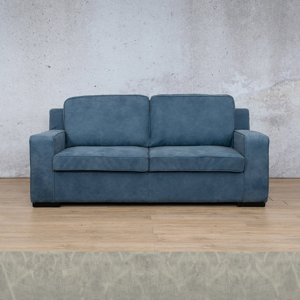 Arizona Leather Couch | 3 Seater | Diesel Grey | Leather Gallery