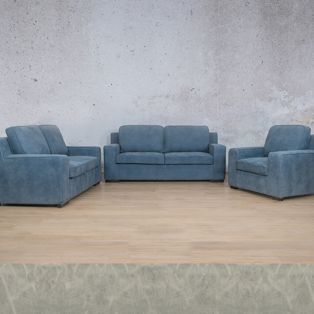 Arizona Leather Couch | 3+2+1 Suite | Diesel Grey | Leather Gallery