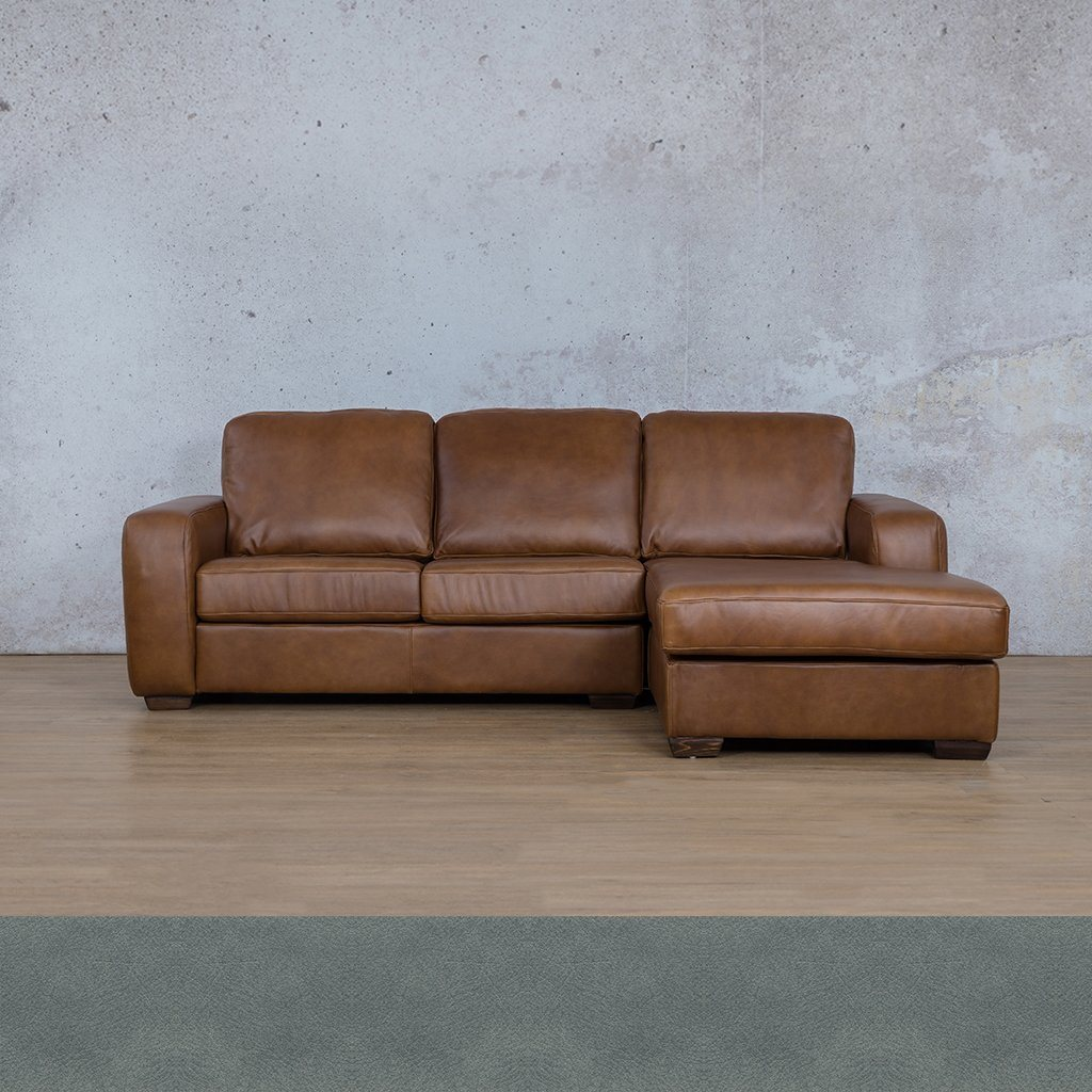 Starnford Leather Corner Couch | Sofa Chaise-RHF | Flux Blue | Couches For Sale | Leather Gallery Couches