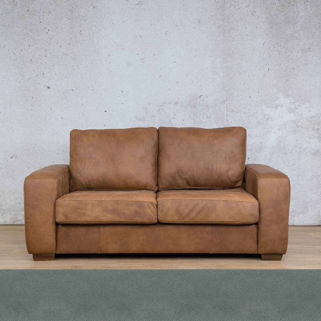 Stanford Leather Couch | 2 seater couch | Flux Blue | Couches for Sale | Leather Gallery Couches