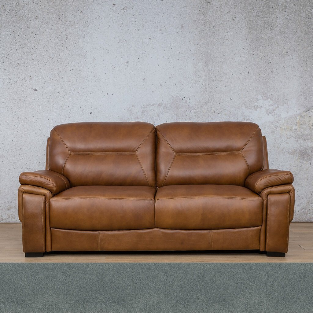 San Lorenze Leather Couch | 3 Seater Couch | Couches for Sale | Flux Blue | Leather Gallery Couches