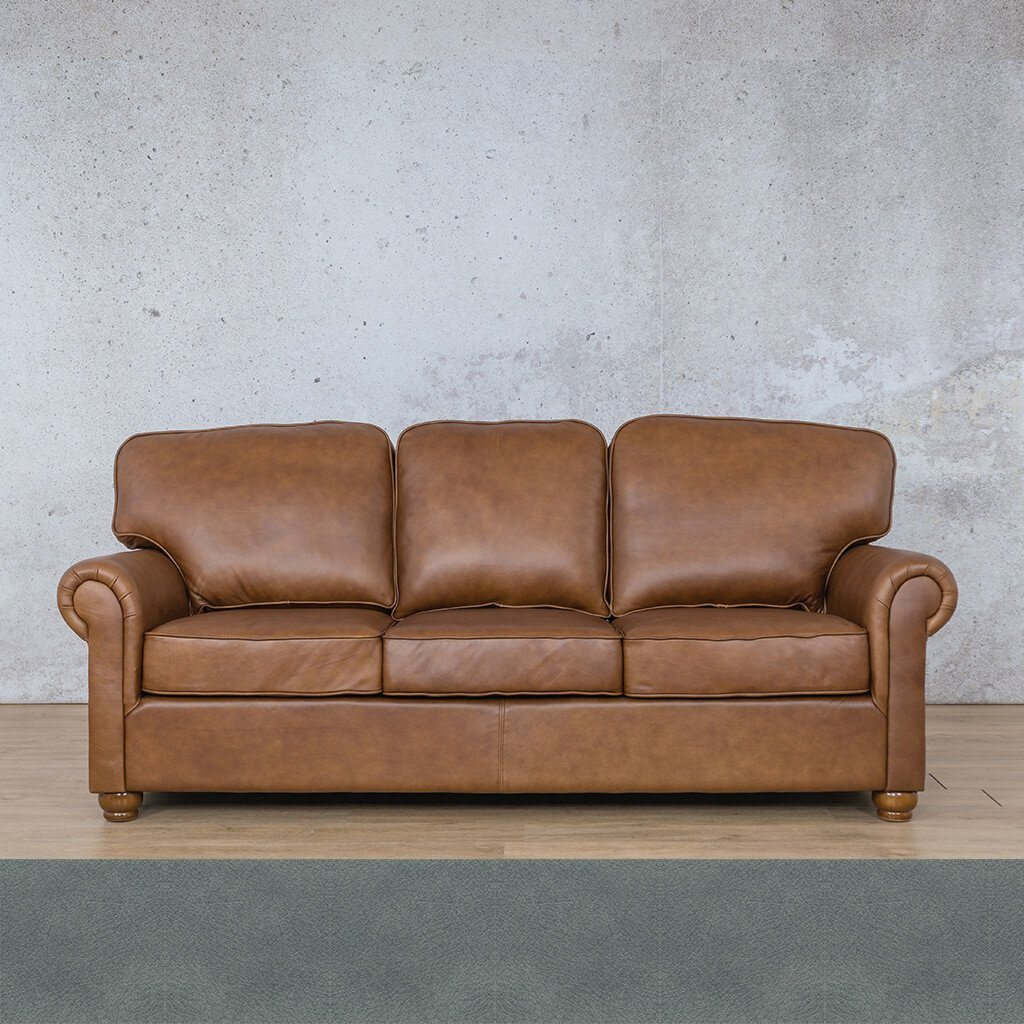 Salisbury Leather Couch | 3 seater couch | Flux Blue | Couches for Sale | Leather Gallery Couches