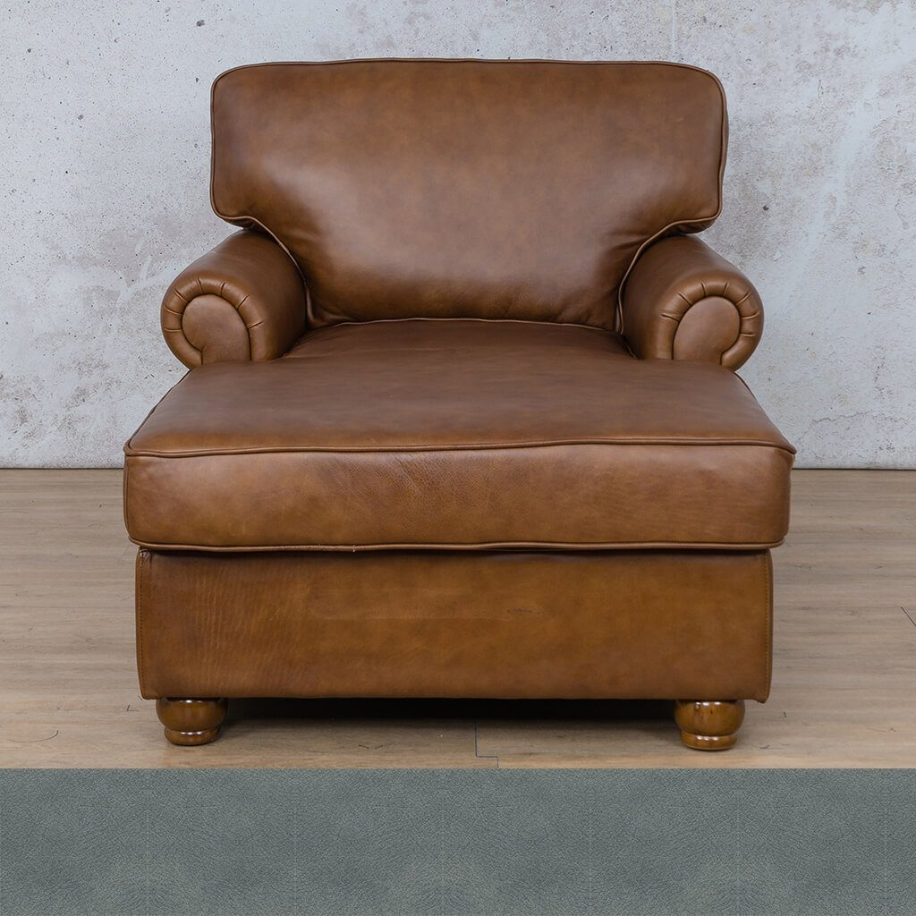 Salisbury Leather Corner Couch | 2 Arm Chaise | Flux Blue | Couches For Sale | Leather Gallery Couches
