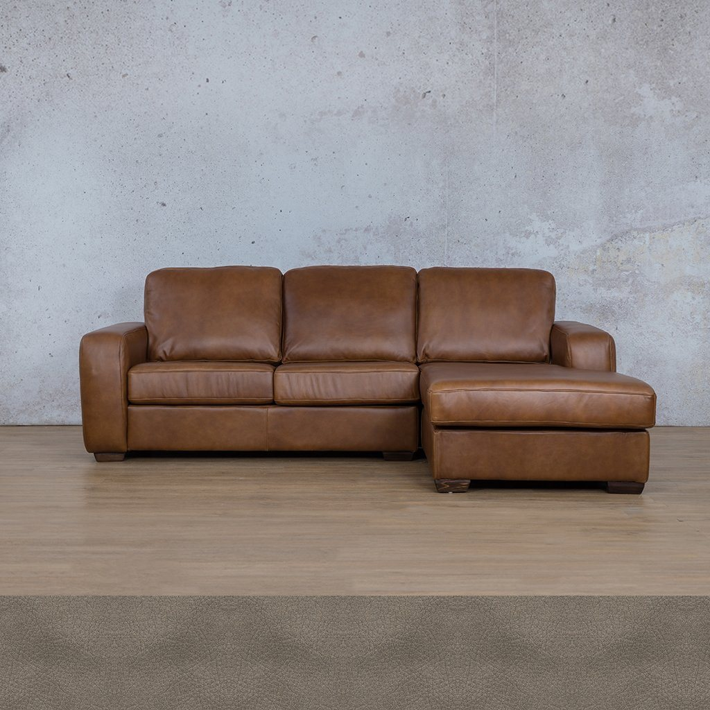 Starnford Leather Corner Couch | Sofa Chaise-RHF | Flux-Grey | Couches For Sale | Leather Gallery Couches