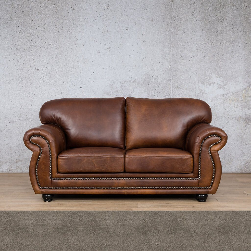 Isilo Leather Couch | 2 Seater Couch | Couches for Sale | Flux Grey | Leather Gallery Couches