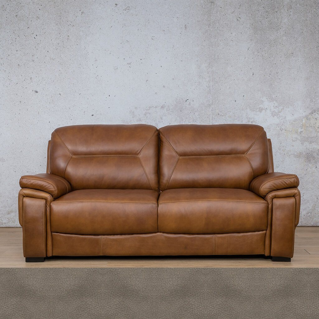 San Lorenze Leather Couch | 3 Seater Couch | Couches for Sale | Flux Grey | Leather Gallery Couches