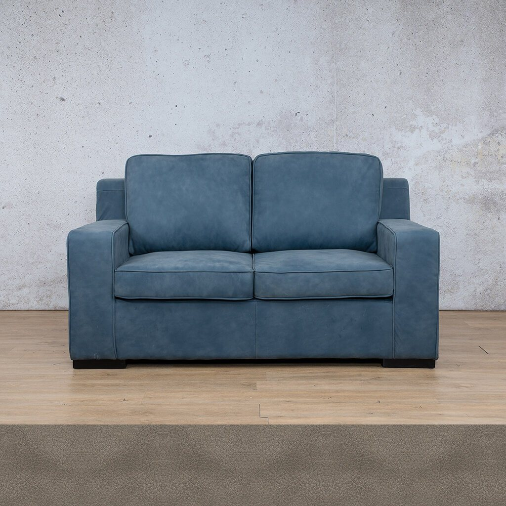Arizona Leather Couch | 2 seater couch | Flux Grey | Couches for Sale | Leather Gallery Couches