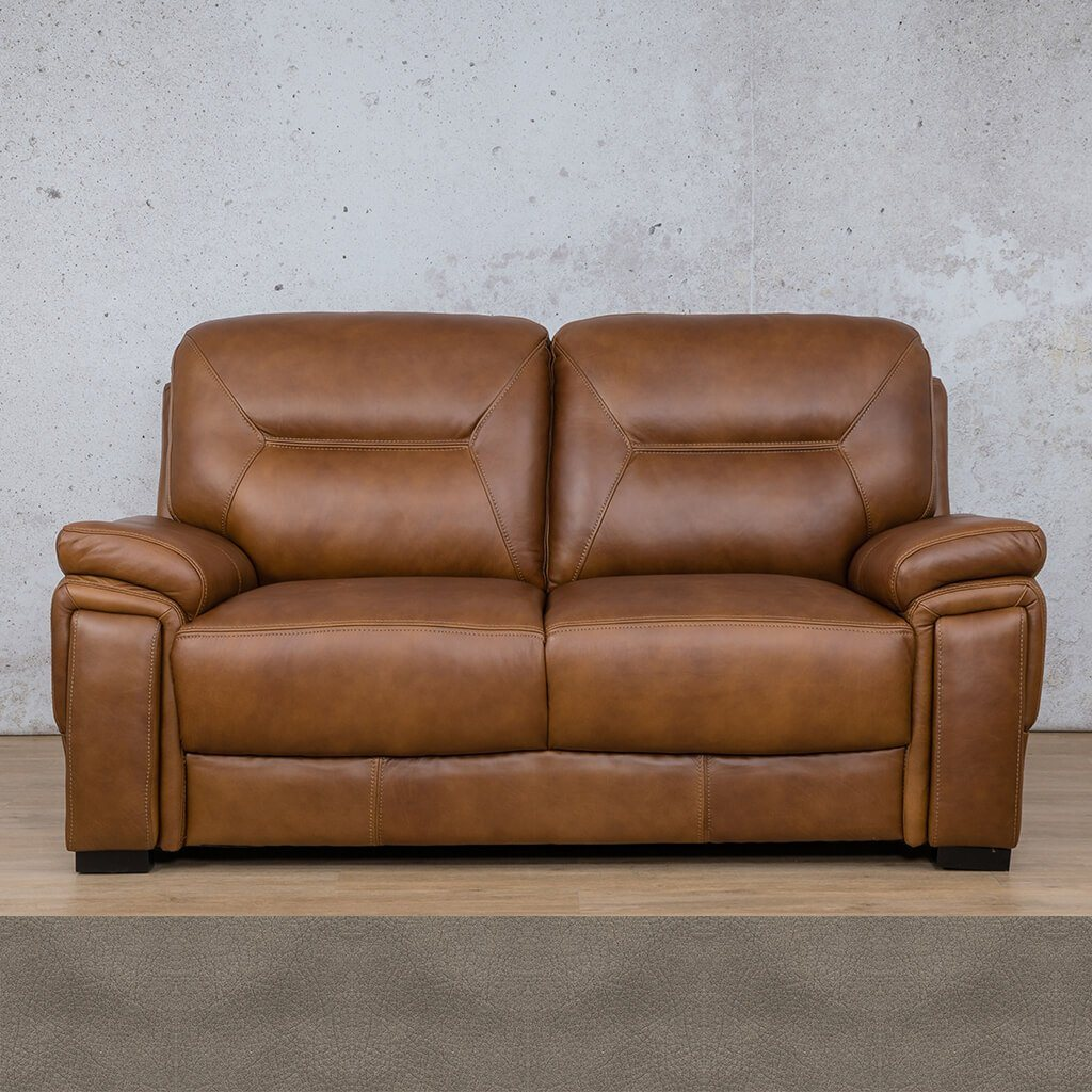 San Lorenze Leather Couch | 2 Seater Couch | Couches for Sale | Flex Grey | Leather Gallery Couches