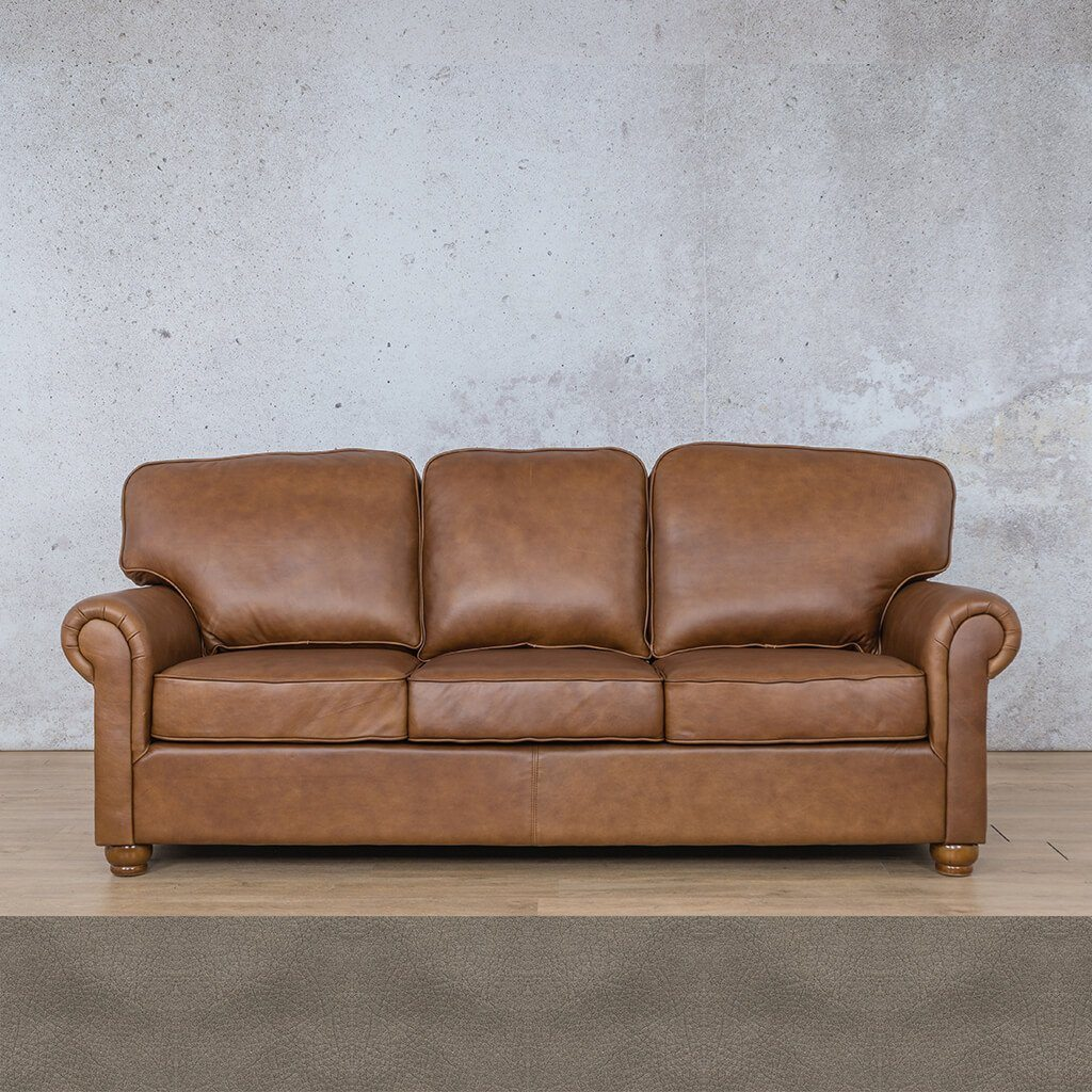 Salisbury Leather Couch | 3 seater couch | Flux Grey | Couches for Sale | Leather Gallery Couches
