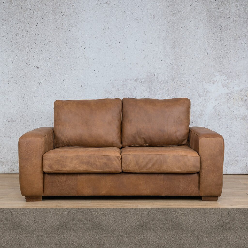 Stanford Leather Couch | 2 seater couch | Flux Grey | Couches for Sale | Leather Gallery Couches