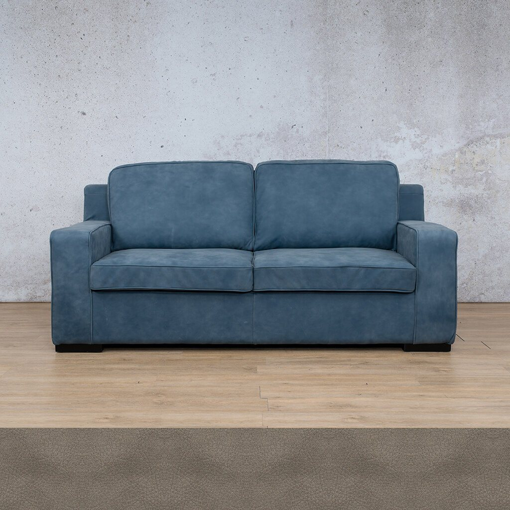 Arizona Leather Couch | 3 seater couch | Flux Grey | Couches for Sale | Leather Gallery Couches