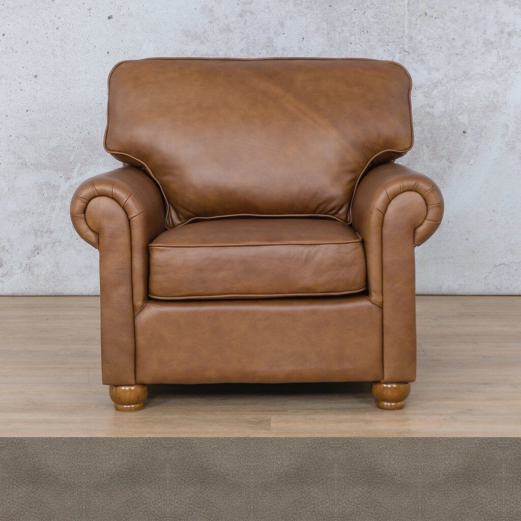 Salisbury Leather Couch | 1 seater couch | Flux Grey | Couches for Sale | Leather Gallery Couches