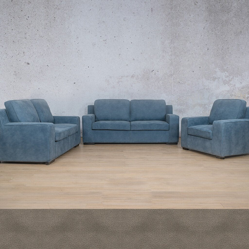 Arizona Leather Couches | 3-2-1 Seater Couches | Couches for Sale | Flux Grey | Leather Gallery Couches