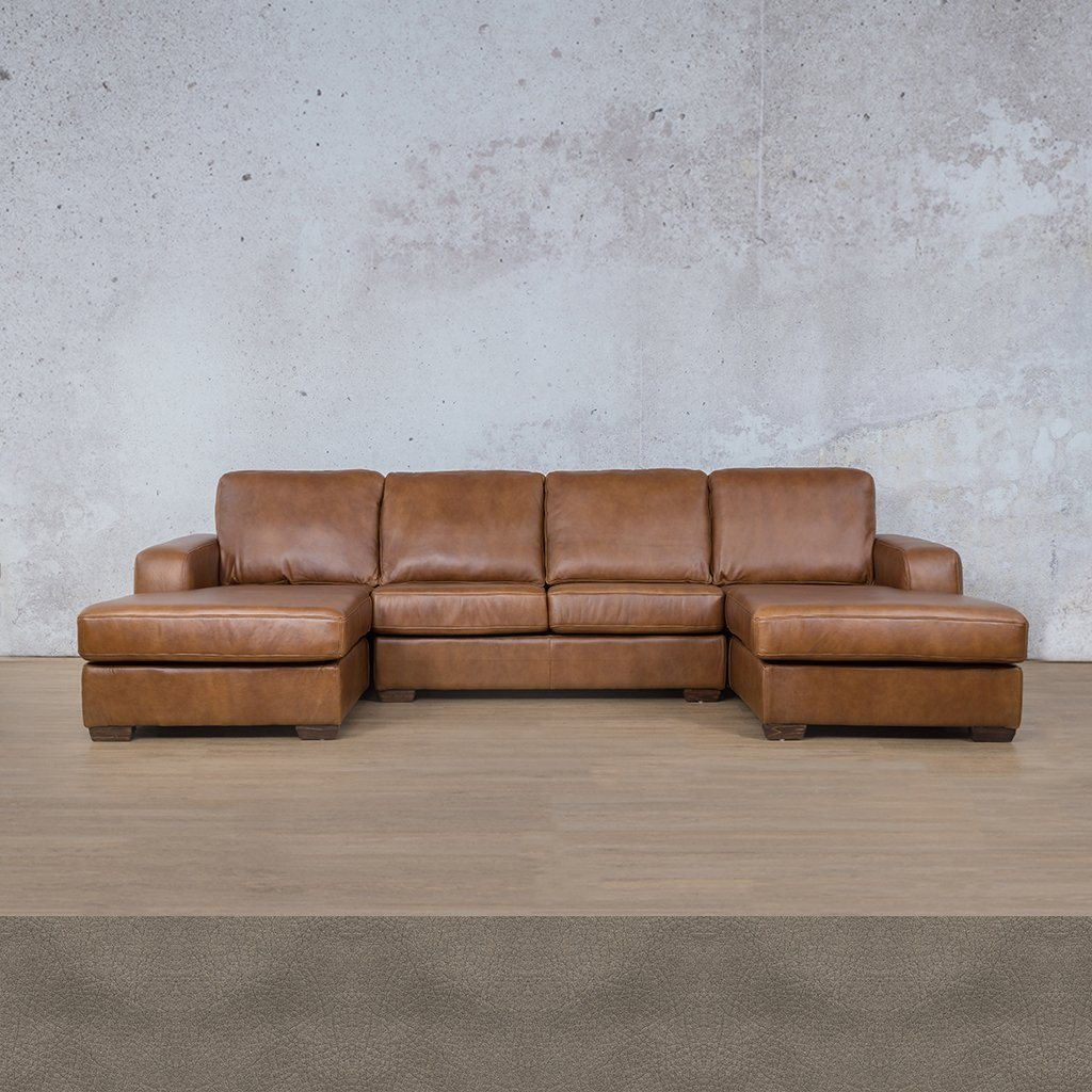 Starnford Leather Corner Couch | U-Chase Couch | Flux Grey | Couches For Sale | Leather Gallery Couches