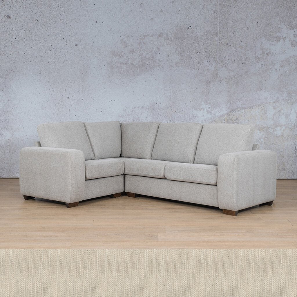 Stanford Fabric Corner Couch | L-Sectional 4 Seater Couch-LHF | Frost Cream | Couches For Sale | Leather Gallery Couches