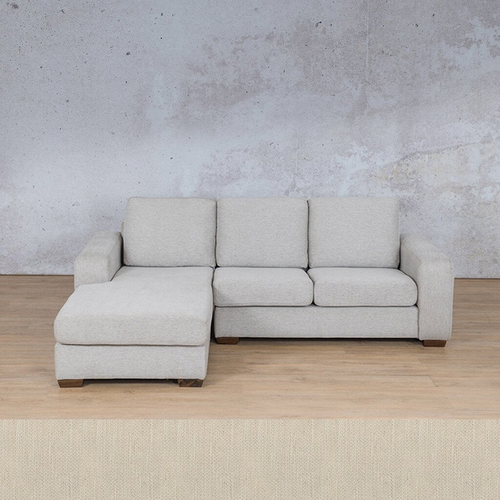 Stanford Fabric Corner Couch | Sofa Chaise-LHF | Frost Cream | Couches For Sale | Leather Gallery Couches