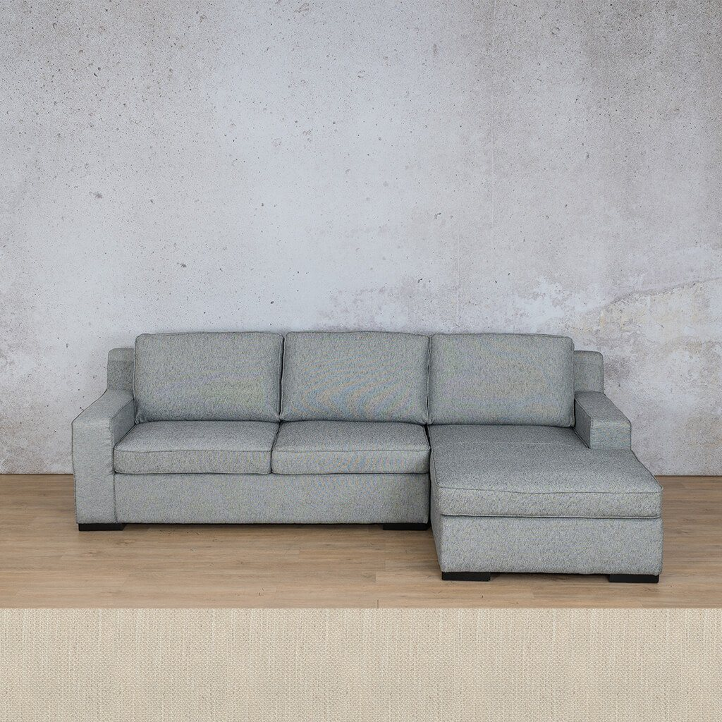 Arizona Fabric Corner Couch | Sofa Sectional-RHF | Frost Cream | Couches For Sale | Leather Gallery Couches