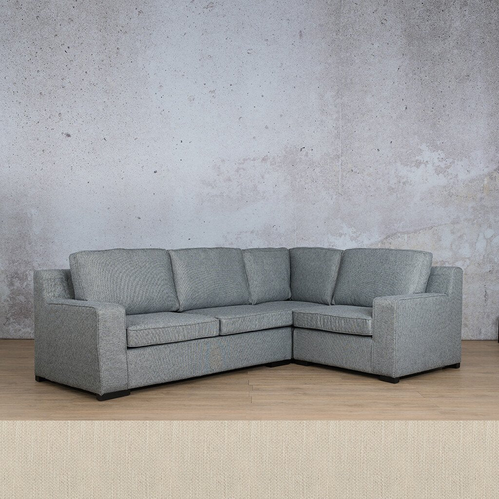 Arizona Fabric Couch | L-Sectional 4 Seater RHF | Frost Cream | Couches For Sale | Leather Gallery Couches