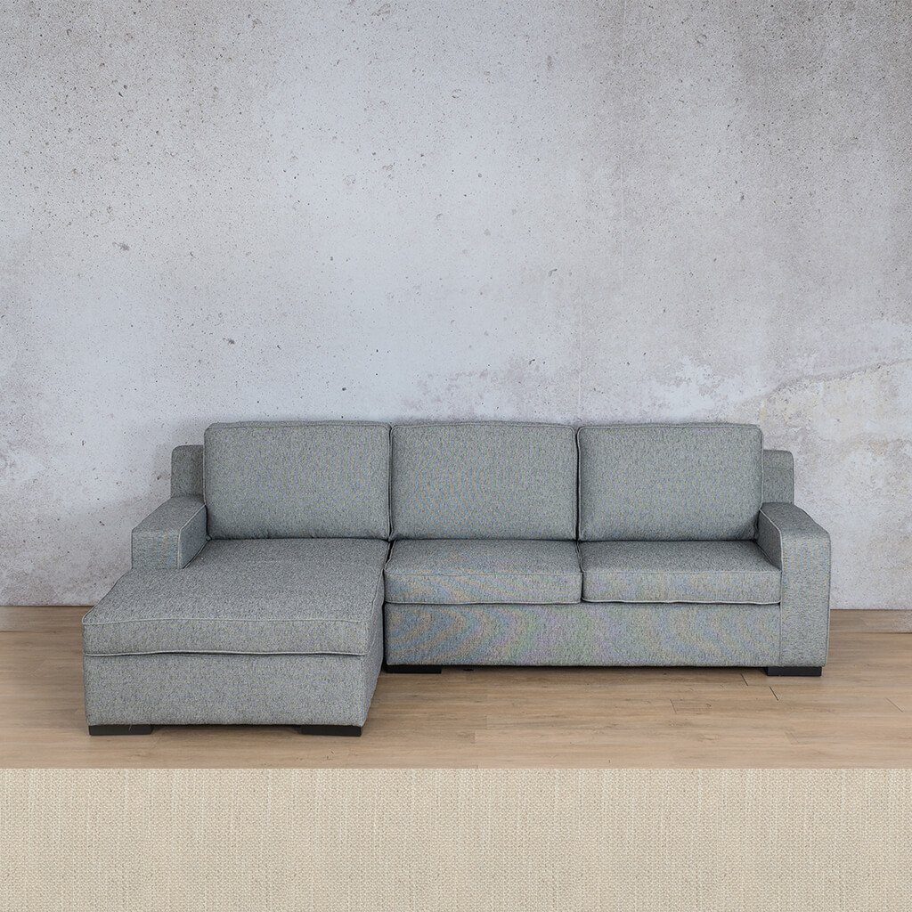 Arizona Fabric Corner Couch | Sofa Sectional-LHF | Frost Cream | Couches For Sale | Leather Gallery Couches