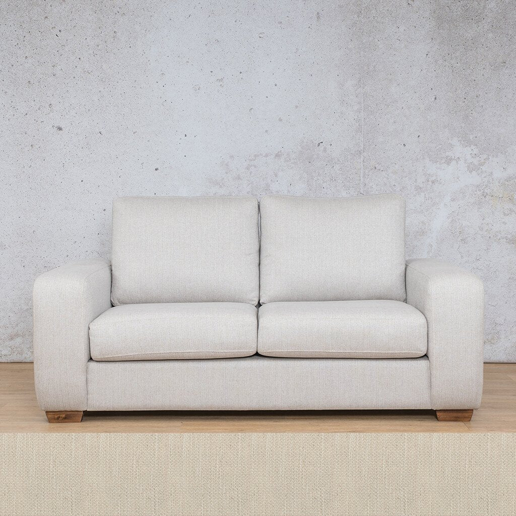 Stanford Fabric Couch | 2 seater couch | Frost Cream | Couches for Sale | Leather Gallery Couches