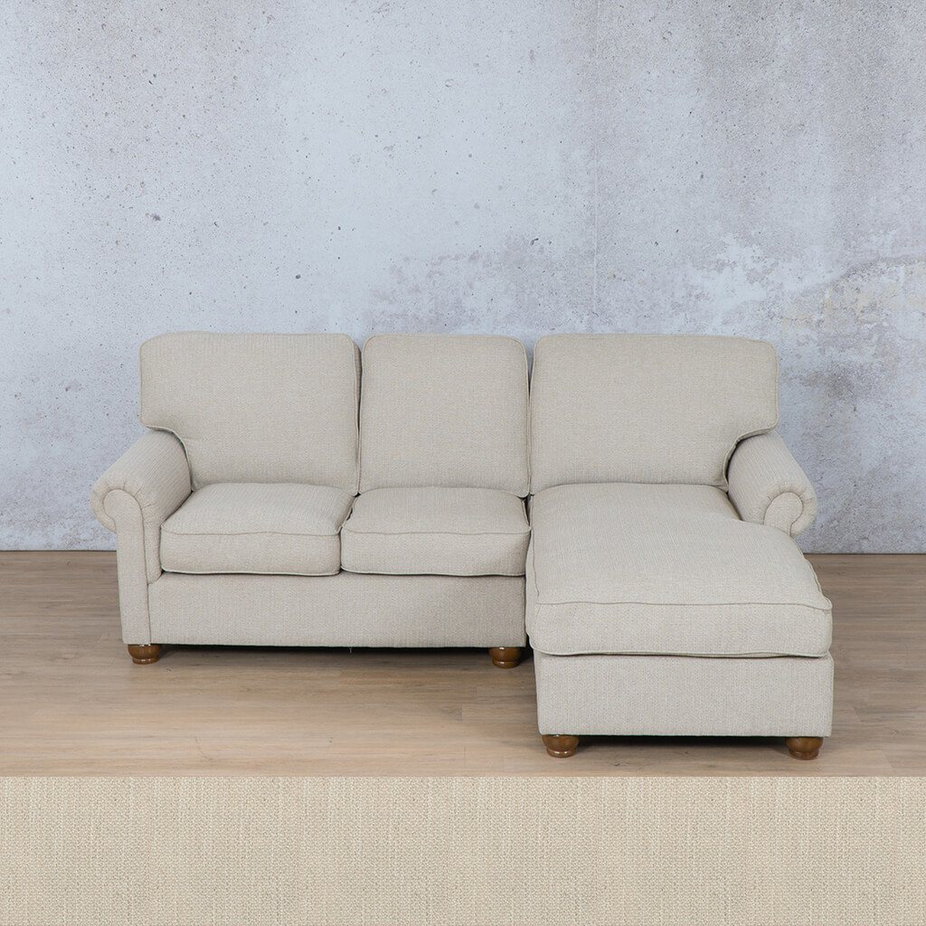 Salisbury Fabric Corner Couch | Chaise Sectional-RHF | Frost Cream | Couches For Sale | Leather Gallery Couches
