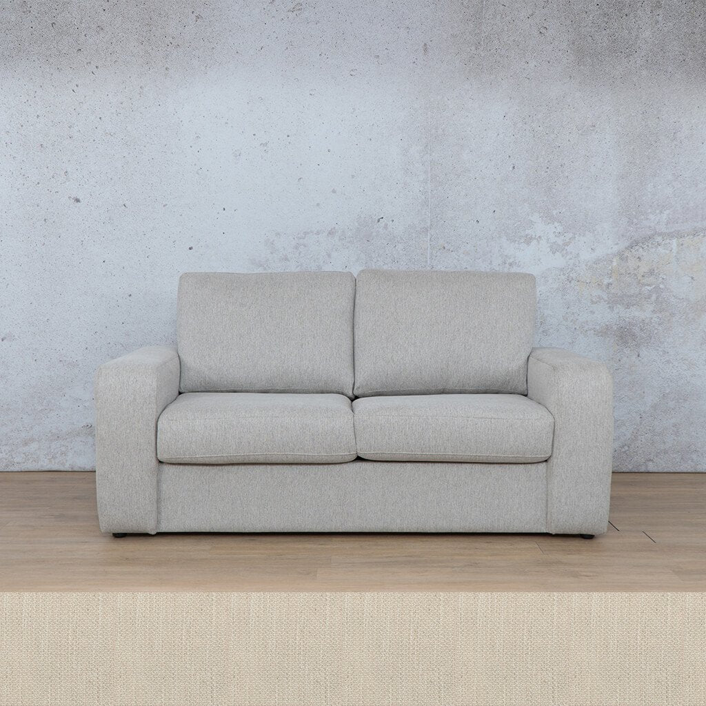 Stanford Fabric Sleeper Couch | 2 seater couch | Frost Cream | Couches for Sale | Leather Gallery Couches