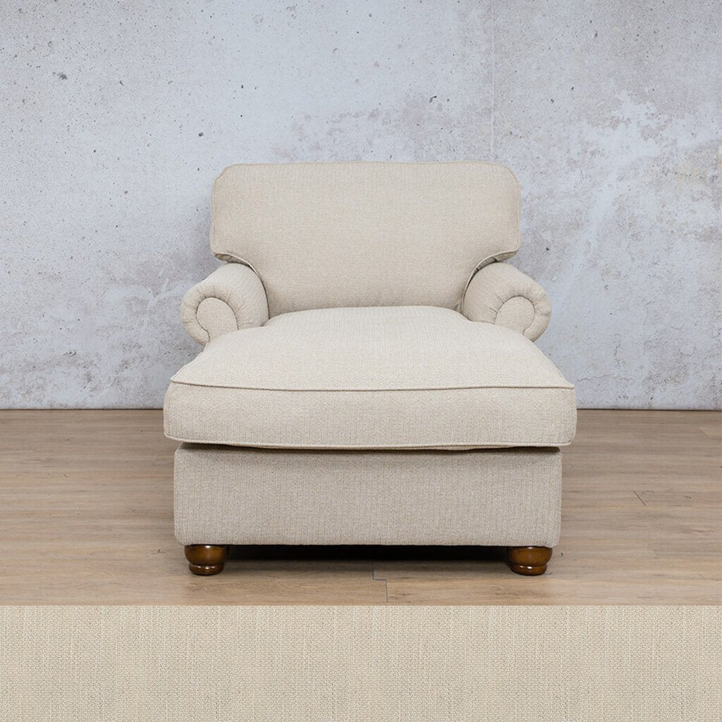 Salisbury Fabric Corner Couch | 2 Arm Chaise | Frost Cream | Couches For Sale | Leather Gallery Couches