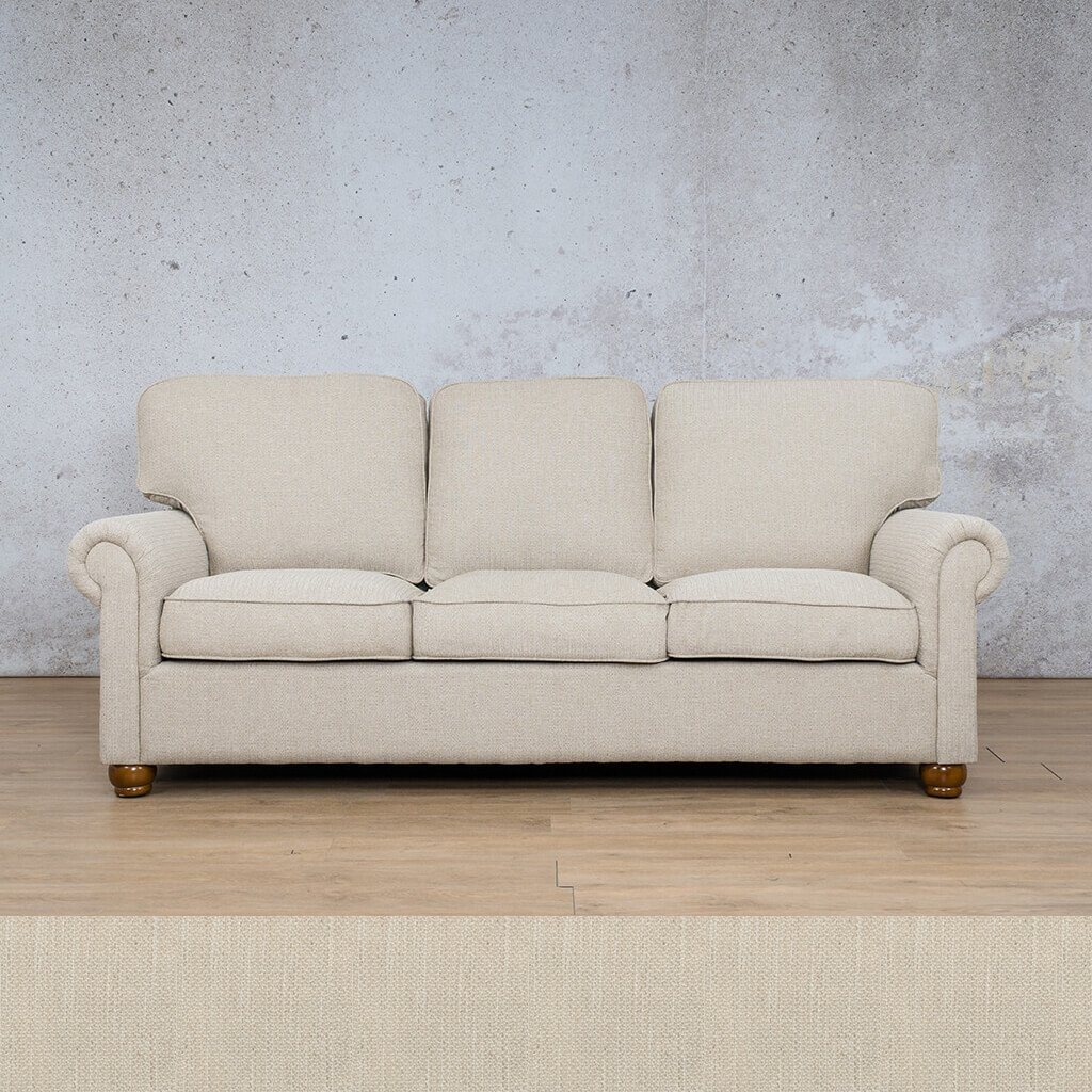 Salisbury Fabric Couch | 3 Seater Couch | Frost Cream | Couches for Sale | Riverside S | Leather Gallery Couches
