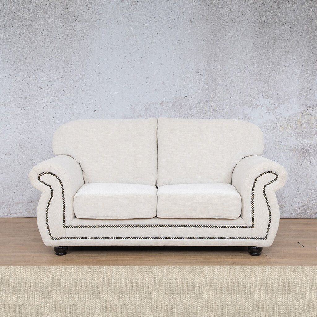 Isilo Fabric sofa suite | 2 Seater Couch  | Couches for Sale| Frost Cream | Leather Gallery Couches