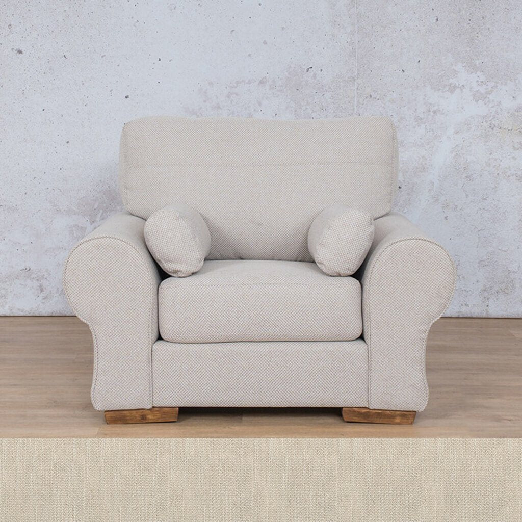 Carolina Fabric Couch | 1 seater couch | Frosts Cream | Couches for Sale | Leather Gallery Couches