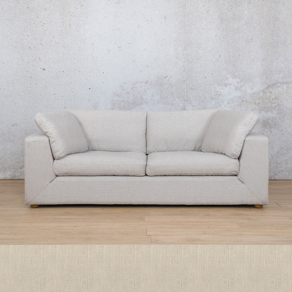 Skye Fabric Corner Couch | 3 Seater Couch | Frost Cream | Couches For Sale | Leather Gallery Couches