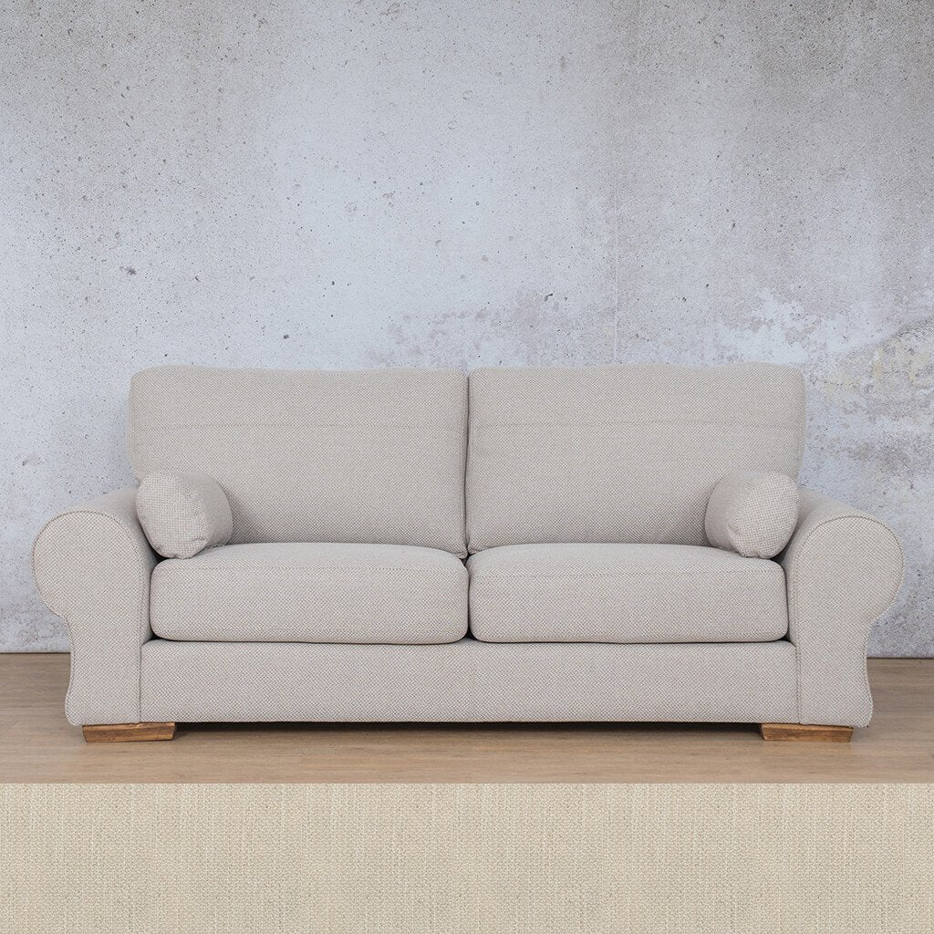 Carolina Fabric Couch | 3 seater couch | Frost Cream | Couches for Sale | Leather Gallery Couches