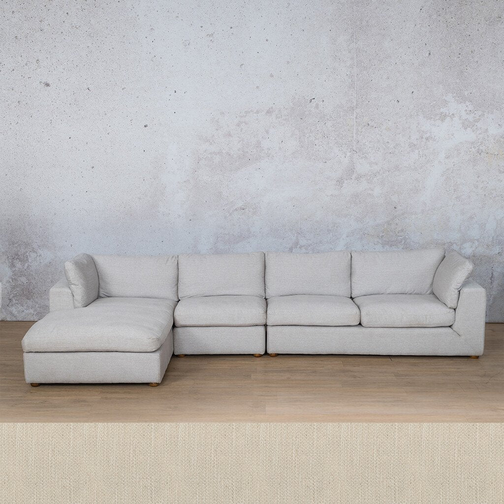 Skye Fabric Corner Couch | Chaise Modular Sectional-LHF | Frost Cream | Couches For Sale | Leather Gallery Couches