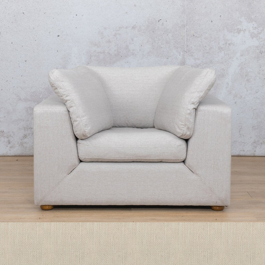Skye Fabric Corner Couch | 1 Seater Couch | Frost Cream | Couches For Sale | Leather Gallery Couches
