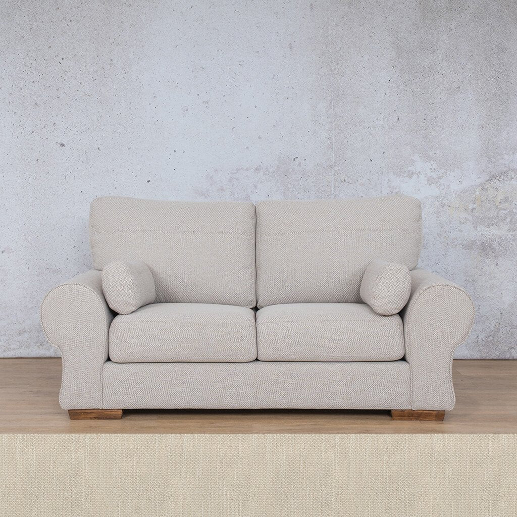 Carolina Fabric Couch | 2 Seater Couch  | Couches for Sale | Frost Cream | Leather Gallery Couches