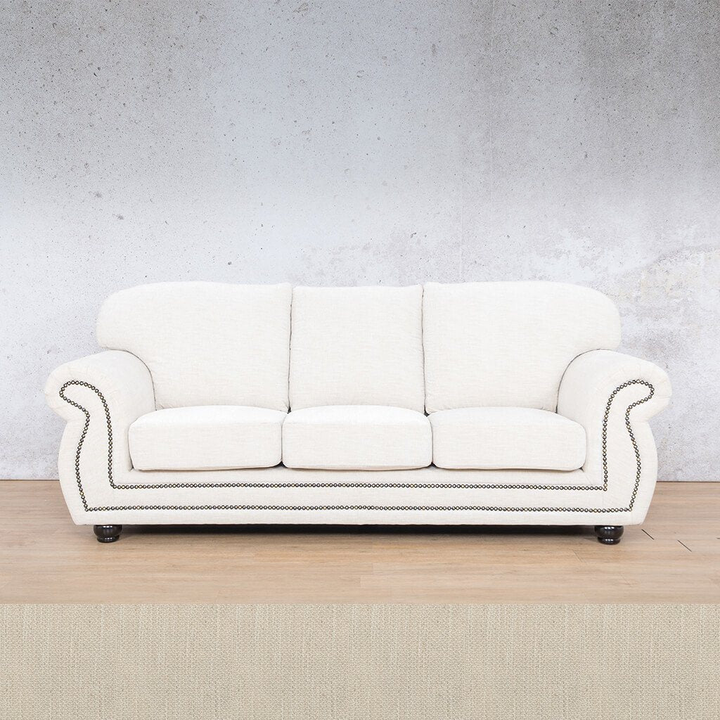 Isilo Fabric sofa suite | 3 Seater Couch  | Couches for Sale| Frost Cream | Leather Gallery Couches