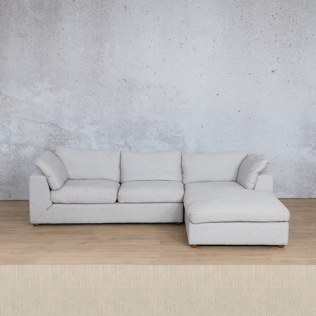 Skye Fabric Corner Couch | Chaise Sectional-RHF | Frost Cream | Couches For Sale | Leather Gallery Couches