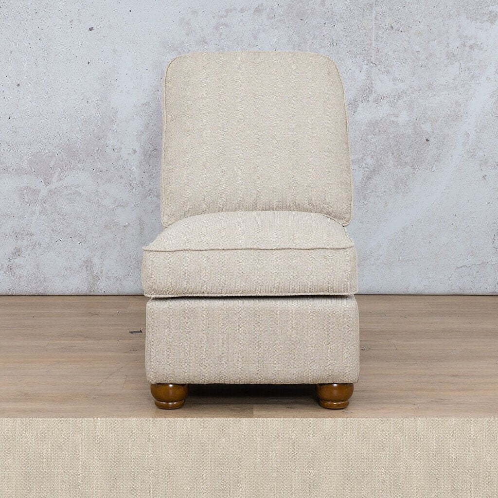 Salisbury Fabric Corner Couch | Armless Chair | Frost Cream | Couches For Sale | Leather Gallery Couches