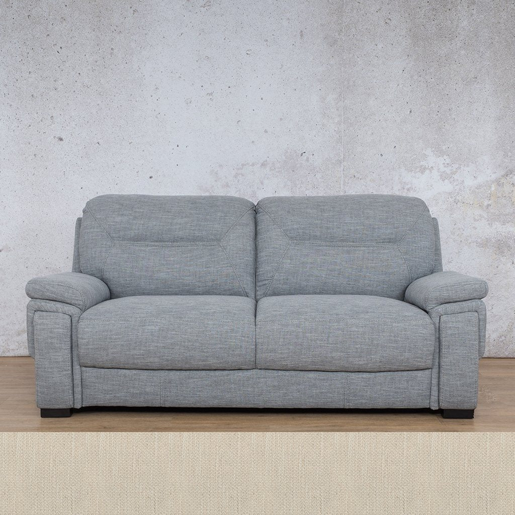 San Lorenze Fabric Couch | 3 seater couch | Frost Cream | Couches for Sale | Leather Gallery Couches